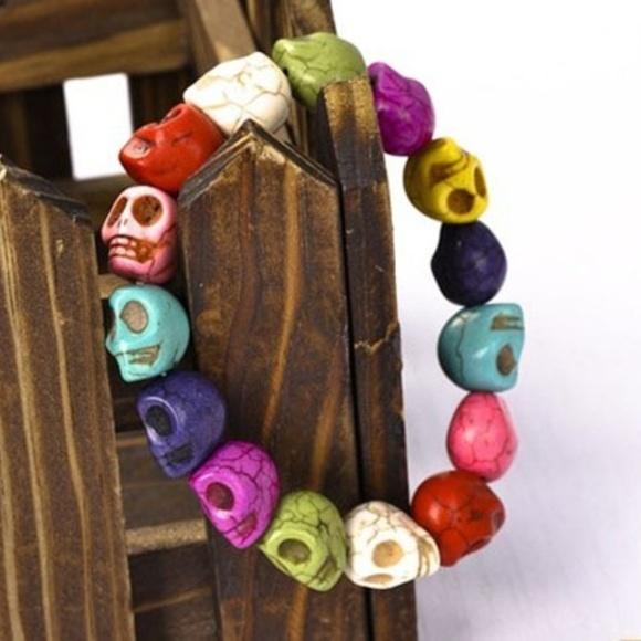 Jewelry - Skull Stone Bracelet Tibet Buddhist Prayer Mala